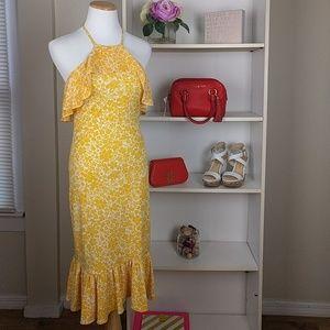 Michael Kors Yellow and White  Dress